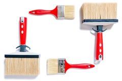 Professionele schilder, het werkhulpmiddelen op een witte achtergrond Royalty-vrije Stock Afbeelding
