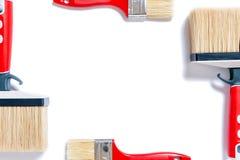 Professionele schilder, het werkhulpmiddelen op een witte achtergrond Royalty-vrije Stock Foto's
