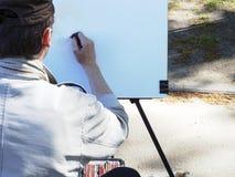 Professionele schilder op het werk stock afbeelding