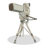 Professionele Televisievideocamera Stock Fotografie