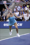 Professionele tennisspeler Camila Giorgi tijdens derde ronde gelijke bij US Open 2013 tegen Caroline Wozniacki Stock Fotografie