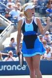 Professionele tennisspeler Caroline Wozniacki tijdens eerste ronde gelijke bij US Open 2013 Royalty-vrije Stock Afbeelding