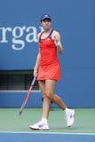 Professionele tennisspeler Christina McHale tijdens derde ronde gelijke bij US Open 2013 Stock Fotografie