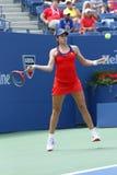 Professionele tennisspeler Christina McHale tijdens derde ronde gelijke bij US Open 2013 Royalty-vrije Stock Afbeeldingen