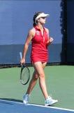 Professionele tennisspeler Elina Svitolina tijdens eerste ronde gelijke bij US Open 2013 tegen Dominika Cibulkova Royalty-vrije Stock Fotografie