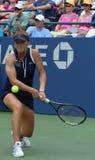 Professionele tennisspeler Elina Svitolina tijdens tweede ronde gelijke bij US Open 2013 tegen Christina McHale Royalty-vrije Stock Foto's
