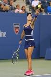 Professionele tennisspeler Eugenie Bouchard in derde rond maart bij US Open 2014 Royalty-vrije Stock Afbeelding