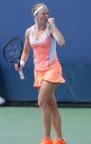 Professionele tennisspeler Julia Glushko tijdens derde ronde gelijke bij US Open 2013 Stock Afbeeldingen