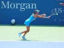 Professionele tennisspeler Julia Goerges tijdens eerste ronde gelijke bij US Open 2013 Stock Foto's