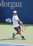 Professionele tennisspeler Kei Nishikori van Japan tijdens US Open 2014 gelijke Royalty-vrije Stock Afbeelding