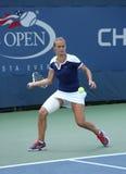 Professionele tennisspeler Lesia Tsurenko van de Oekraïne tijdens US Open 2013 gelijke Royalty-vrije Stock Fotografie