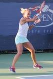 Professionele tennisspeler Lesia Tsurenko van de Oekraïne tijdens US Open 2014 kwalificerende gelijke Stock Fotografie