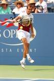 Professionele tennisspeler Richard Gasquet tijdens eerste ronde gelijke bij US Open 2013 Stock Afbeelding