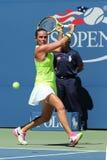Professionele tennisspeler Roberta Vinci van Italië in actie tijdens haar eerste ronde gelijke bij US Open 2016 Stock Foto's