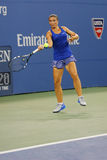 Professionele tennisspeler Sara Errani tijdens gelijke bij US Open 2014 Royalty-vrije Stock Afbeeldingen