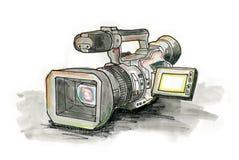 Professionele Videocamera Stock Afbeelding