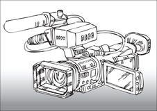 Professionele videocamera Stock Foto's