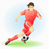 Professionele Voetballer Royalty-vrije Stock Foto's