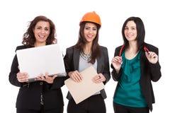 Professionele vrouwen in het aantal arbeidskrachten Royalty-vrije Stock Fotografie