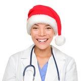 professionell för juldoktorsläkarundersökning Arkivfoto