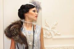 professionell för stående för modemodell Arkivfoto