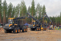 Professionell i Forest Machine Operator Competition royaltyfri bild