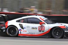 Professionell Porsche 911 RSR Racing Fotografering för Bildbyråer