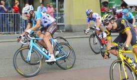 Professionell som cyklar lag på Tour de Suisse 2017 etapp 3 från Bern switzerland Royaltyfria Bilder