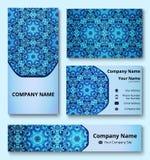 Professionelle deluxe Markendesignausrüstung blaue Schatten Erstklassige Unternehmensidentitä5sschablone vektor abbildung