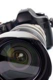 Professionelle digitale Fotokamera Lizenzfreie Stockfotos