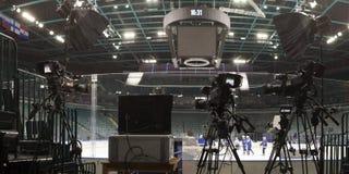 Professionelle digitale Videokamera Stockfoto