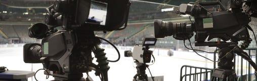 Professionelle digitale Videokamera Stockfotos