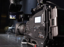 Professionelle digitale Videokamera Lizenzfreie Stockfotografie