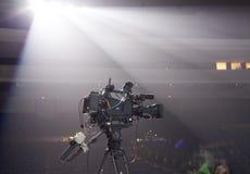 Professionelle digitale Videokamera Stockfotografie