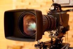 Professionelle digitale Videokamera Lizenzfreies Stockbild
