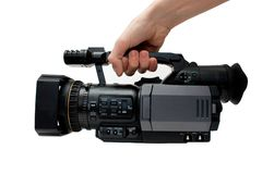 Professionelle digitale Videokamera stockbild