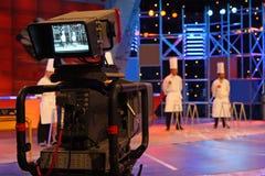 Professionelle digitale Videokamera Lizenzfreies Stockfoto