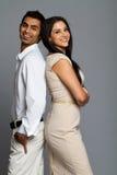 Professionelle ethnische Paare Stockfotos