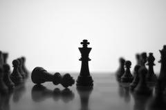 Professionelle Fotografie des Schachspiels auf Lager Stockfoto