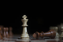 Professionelle Fotografie des Schachspiels auf Lager Stockfotos