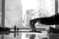 Professionelle Fotografie des Schachspiels auf Lager Stockbild