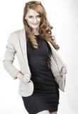 Professionelle rote Haar-Frau Lizenzfreie Stockfotos