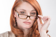 Professionelle rote Haar-Frau Stockfoto