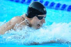 Professioneller konkurrierender Schwimmer Lizenzfreies Stockfoto