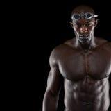 Professioneller männlicher Schwimmer Lizenzfreies Stockfoto