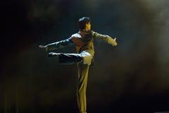Professioneller moderner Tänzer Stockfotografie