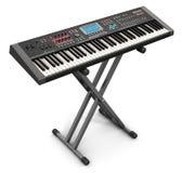 Professioneller musikalischer synthesizer auf Stand Stockfotos