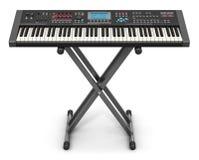 Professioneller musikalischer synthesizer auf Stand Lizenzfreies Stockbild