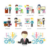 Professioni della gente di affari royalty illustrazione gratis