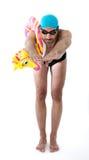 Professionist de nageur pas Photos stock